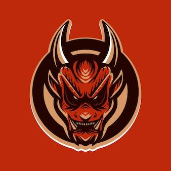 Дьявол красная эмблема векторная иллюстрация
