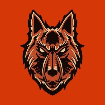 Волк векторная иллюстрация эмблема