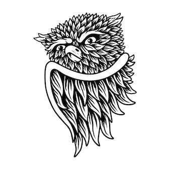 フクロウの鳥のシンボル