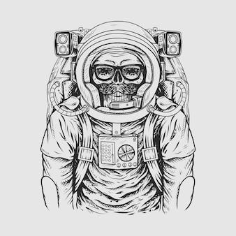 クールな宇宙飛行士