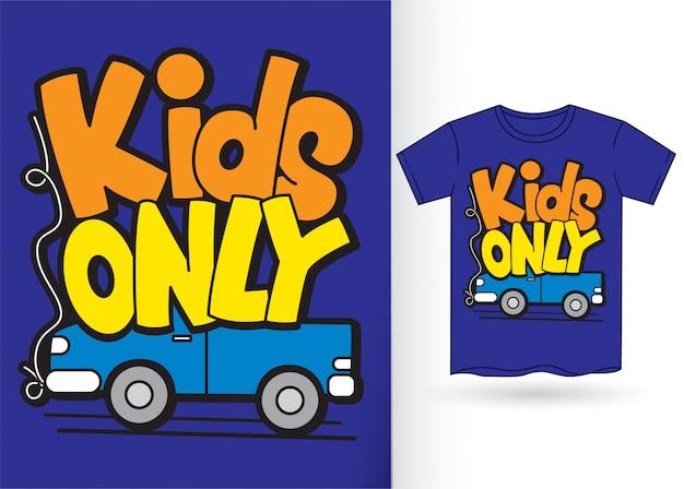 Авто мультфильм с типографикой для футболки