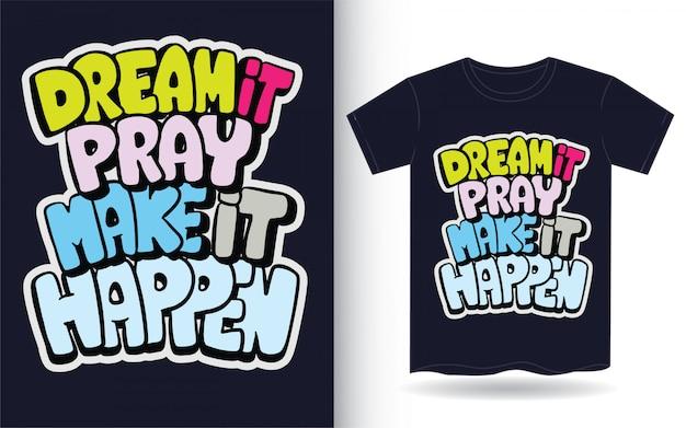 Мотивационные рисованной надписи для футболки