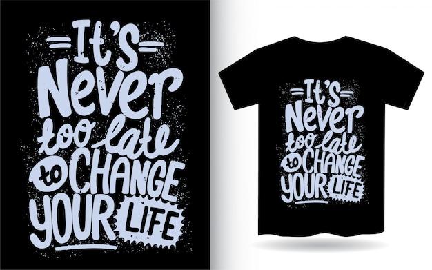 Ручной обращается мотивационные цитаты типографии для футболки