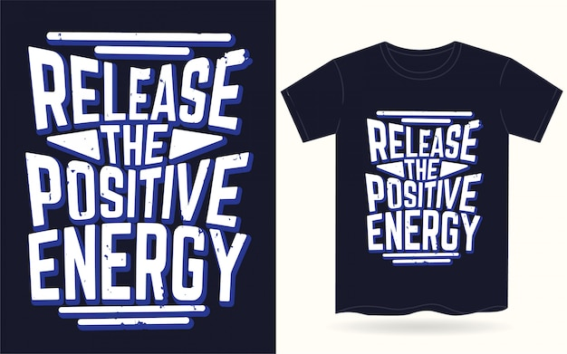 Отпустите положительную энергию типографии