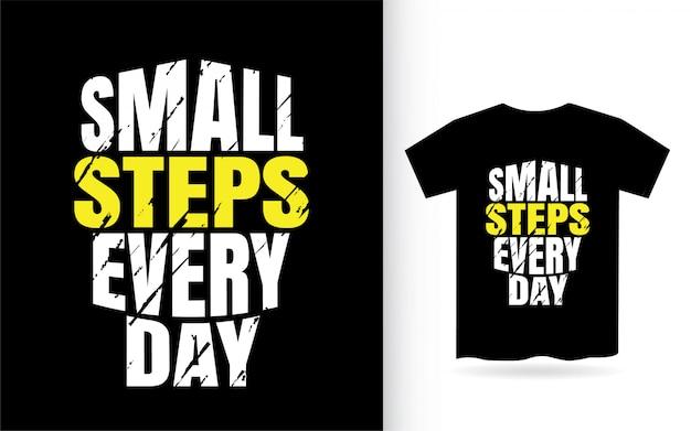 Маленькие шаги повседневной типографии для футболки
