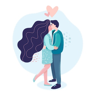 男と女の間の愛とロマンス。