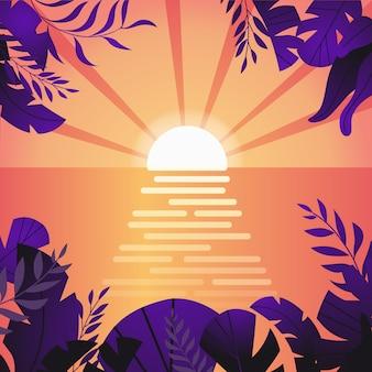 夏の熱帯の背景