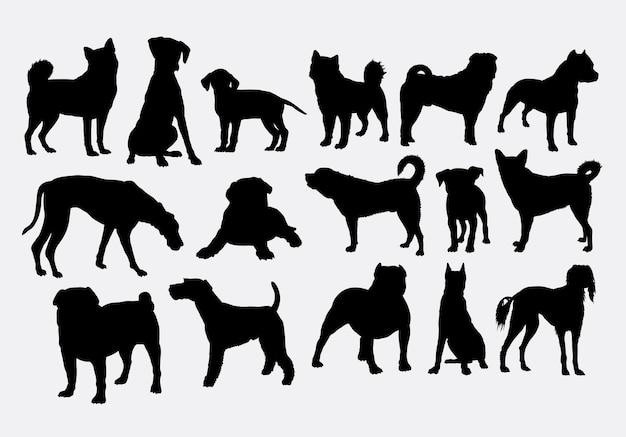 犬のペットの動物のシルエット