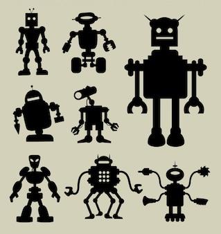 Силуэт робота