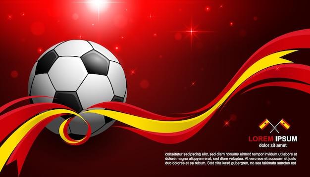 サッカーカップ選手権スペイン旗