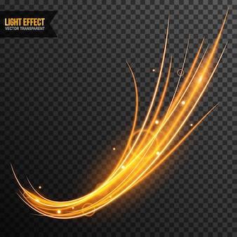 Вектор светового эффекта прозрачный с золотыми блестками