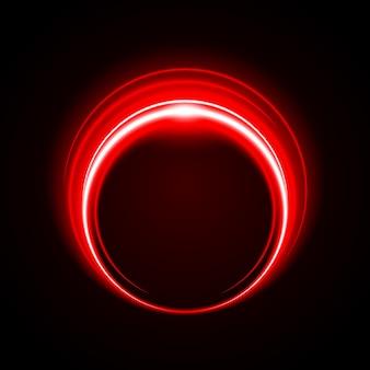 抽象的なサークルライトレッドフレームベクトルの背景