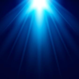 抽象的な青ライト効果ベクトルの背景