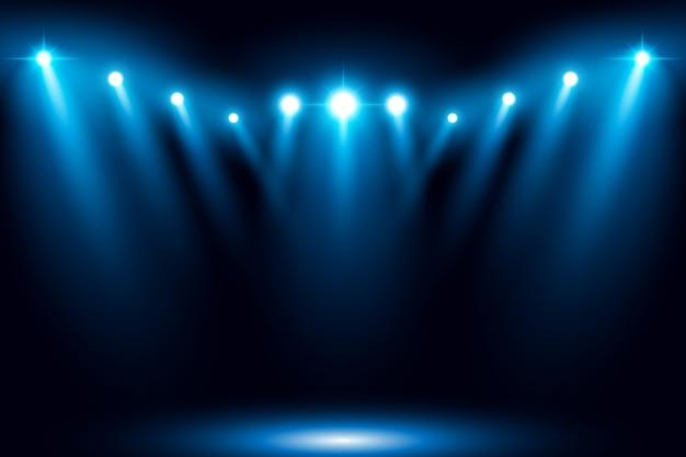 Иллюстрированный этап свет прожектор сцены векторной иллюстрации