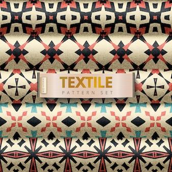 Набор текстильных узоров