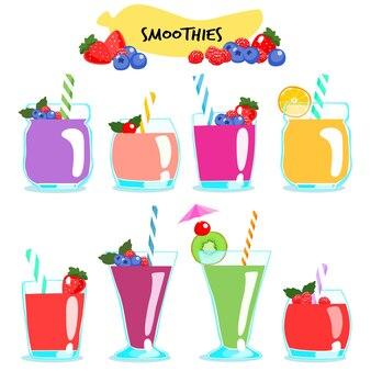 Многие виды здоровых и вкусных коктейлей