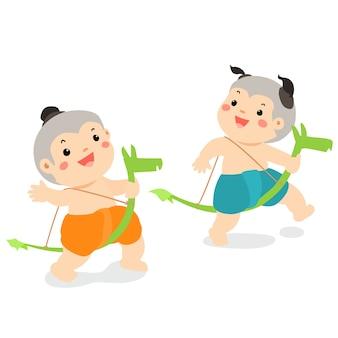 Игра банан верховая езда традиционный тайский ребенок