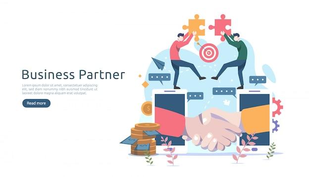 ビジネスパートナーシップ関係のコンセプト