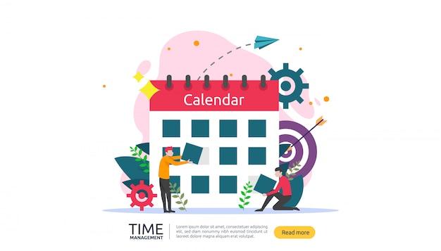 時間管理と先延ばしの概念。ビジネスバナーの計画と戦略