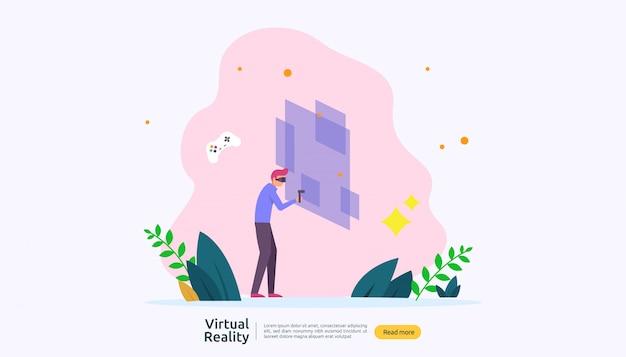 Шаблон фона виртуальной дополненной реальности