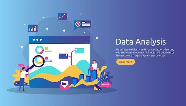 市場調査とデジタルマーケティング戦略のためのデジタルデータ分析の概念。
