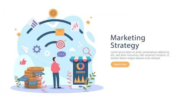 小さなマーケティング戦略のコンセプト。