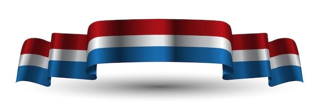 Голландский голландский красный белый синий лента флаг