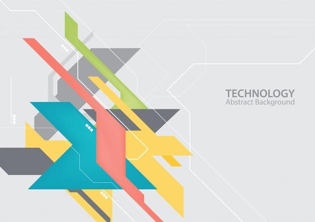 抽象的なハイテクデジタル技術の背景