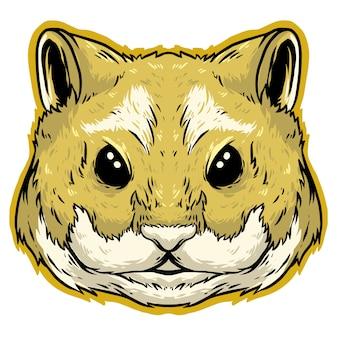 ハムスターの頭のロゴデザイン