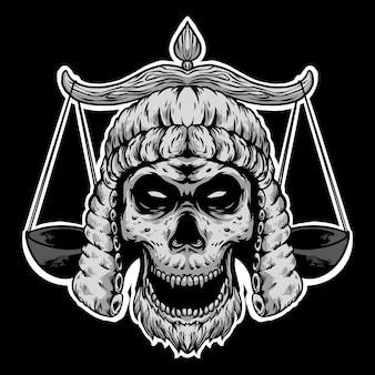 頭蓋骨弁護士ロゴデザインマスコット