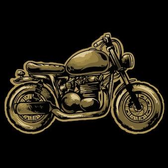 がきスタイルのオートバイのロゴのマスコットデザイン
