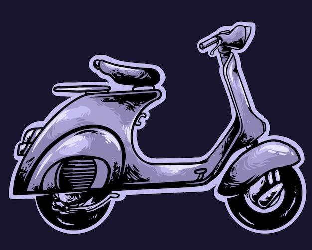 Скутер классический винтаж