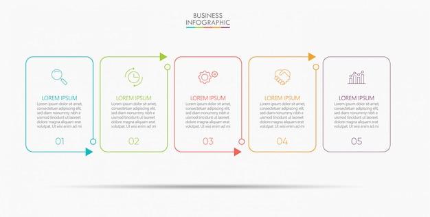 ビジネスデータの視覚化タイムラインインフォグラフィックテンプレート