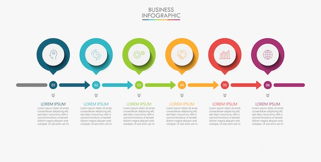 プレゼンテーションビジネスインフォグラフィックテンプレート
