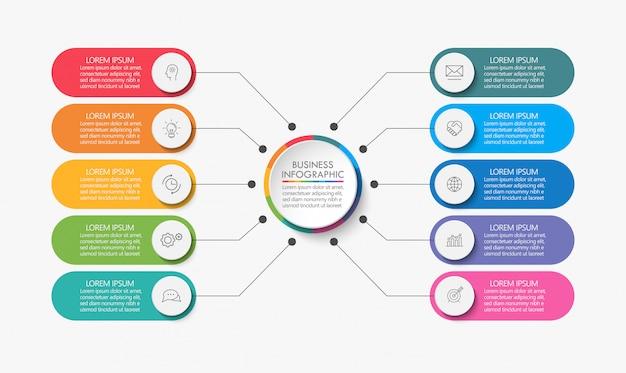 Презентация бизнес круг инфографики шаблон