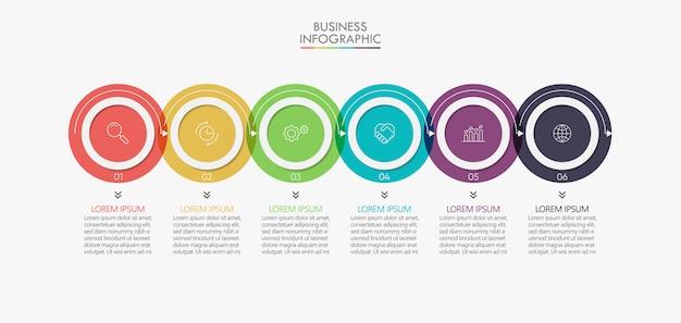 Визуализация бизнес-данных. график инфографики иконки, предназначенные для абстрактного шаблона
