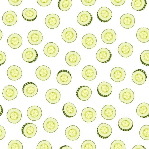 キュウリスライスのベクトルシームレスパターン