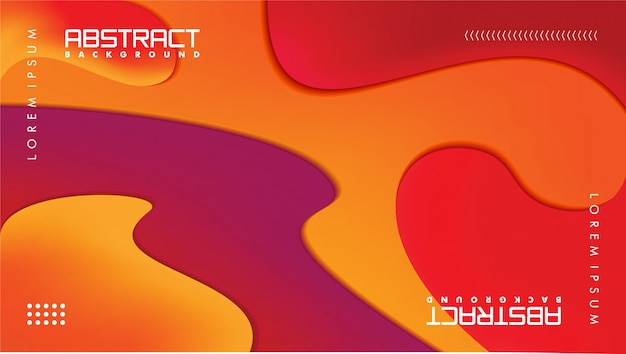 Современный абстрактный фон в стиле бумажного ремесла