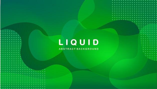 Жидкий абстрактный фон в зеленом цвете
