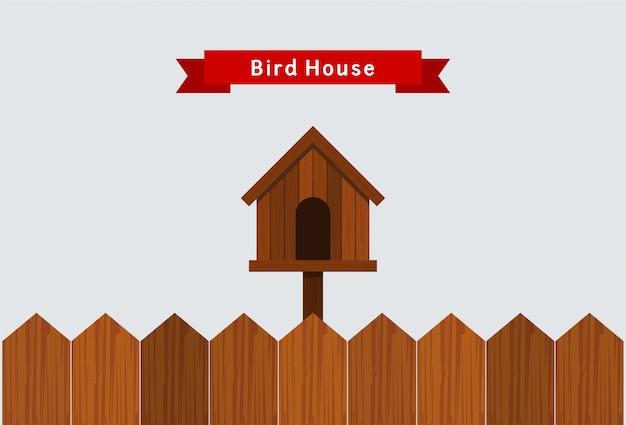 鳥の家のイラスト