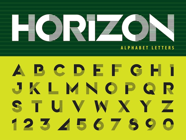 現代のアルファベットの手紙