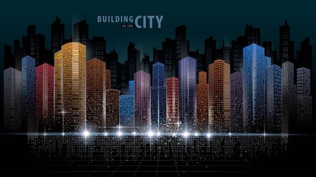 抽象的な未来都市の背景