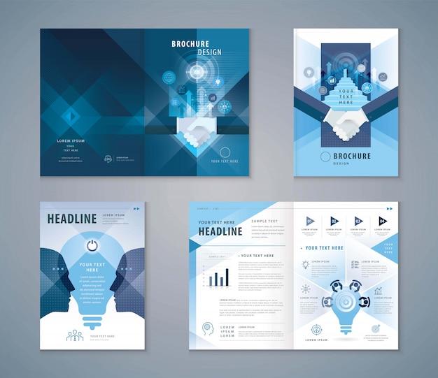 Обложка книги шаблон дизайна, рукопожатие и лестница ведут к открытой двери