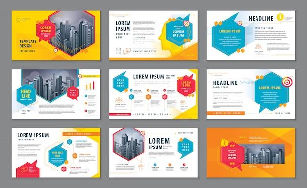 Абстрактные шаблоны презентаций, дизайн инфографики шаблон, вектор речи пузыри