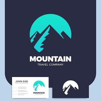 山の手描きのロゴテンプレート