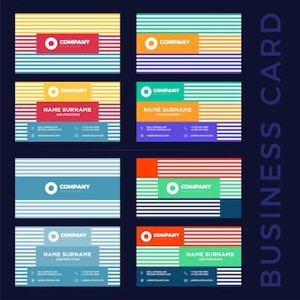 Абстрактные шаблоны визиток.