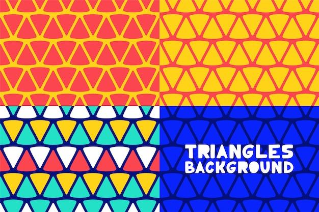 抽象的な幾何学的三角形パターン背景ビジネスパンフレット表紙デザインの設定。