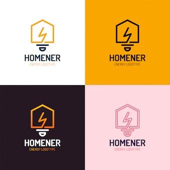 Умный дом логотип векторный набор