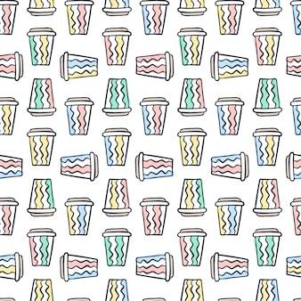 コーヒーカップのパターン