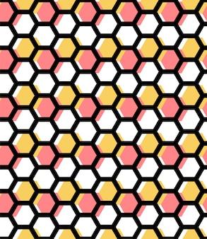 幾何学的な六角形の蜂蜜の抽象的なパターン。